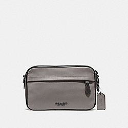 GRAHAM CROSSBODY - F39946 - HEATHER GREY/BLACK ANTIQUE NICKEL