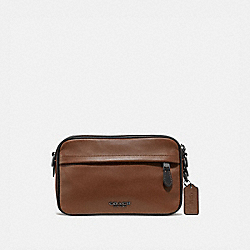 GRAHAM CROSSBODY - F39946 - SADDLE/BLACK ANTIQUE NICKEL