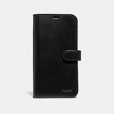 COACH IPHONE XS MAX FOLIO - BLACK - F39953