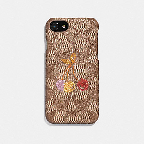 COACH F39954 IPHONE 6S78 CASE IN SIGNATURE CANVAS WITH CHERRY