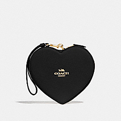 COACH F39957 Heart Wristlet BLACK/IMITATION GOLD