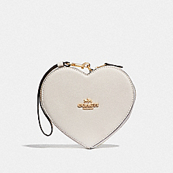 COACH F39957 Heart Wristlet CHALK/IMITATION GOLD