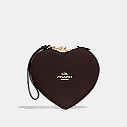 COACH F39957 Heart Wristlet OXBLOOD 1/IMITATION GOLD