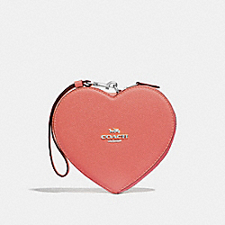 HEART WRISTLET - F39957 - CORAL/SILVER