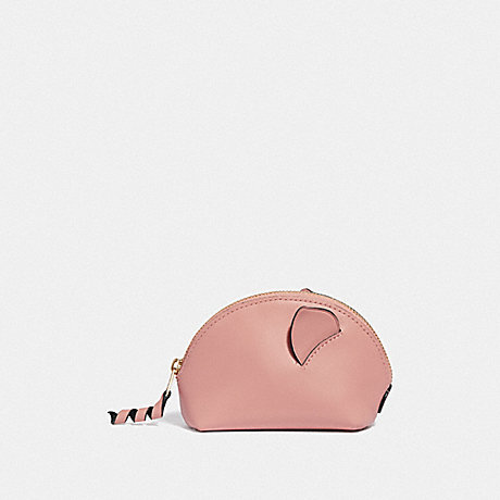 COACH F39958 LUNAR NEW YEAR PIG COIN CASE PINK/IMITATION GOLD