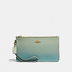 COACH F39961 - CROSBY CLUTCH WITH OMBRE GREEN MULTI/IMITATION GOLD