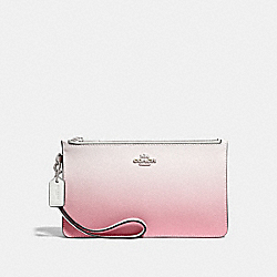 COACH F39961 - CROSBY CLUTCH WITH OMBRE PINK MULTI/SILVER