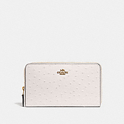 COACH F39985 Continental Wallet CHALK/LIGHT GOLD
