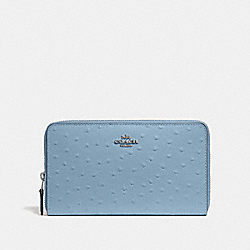 COACH F39985 Continental Wallet CORNFLOWER/SILVER