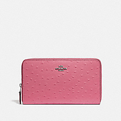 COACH F39985 Continental Wallet STRAWBERRY/SILVER