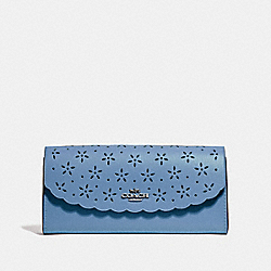 COACH F39997 Slim Envelope Wallet SKY BLUE/MIDNIGHT/SILVER
