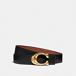 COACH F40122 - SIGNATURE BUCKLE REVERSIBLE BELT, 32MM B4/BLACK 1941 SADDLE