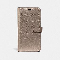 COACH F40353 Iphone Xs Max Folio PLATINUM