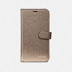 COACH F40355 Iphone X/xs Folio PLATINUM