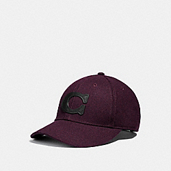 COACH NEW YORK WOOL HAT - COACH f40795 - BURGUNDY