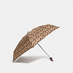 COACH F41063 Mini Umbrella With Pop Star Print KHAKI/MULTICOLOR/SILVER