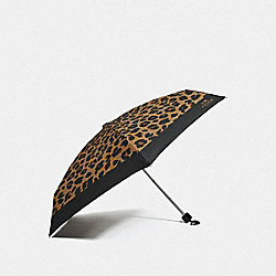 COACH F41064 - MINI UMBRELLA WITH LEOPARD PRINT MULTICOLOR/SILVER