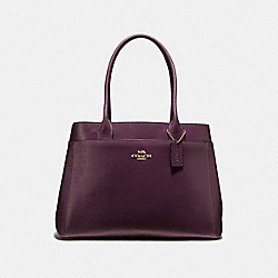 COACH F41118 - CASEY TOTE OXBLOOD 1/LIGHT GOLD