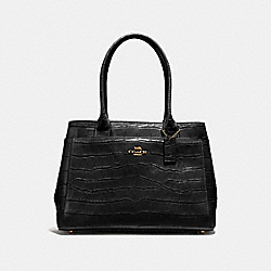 CASEY TOTE - F41119 - BLACK/LIGHT GOLD