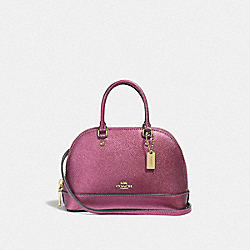 COACH F41246 Micro Mini Sierra Satchel METALLIC ANTIQUE BLUSH/LIGHT GOLD