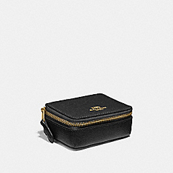 COACH F41289 Triple Pill Box BLACK/LIGHT GOLD
