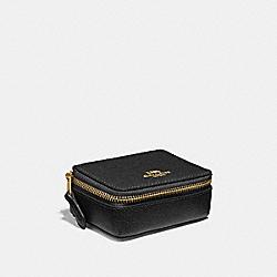 COACH F41289 Triple Pill Box BLACK/LIGHT GOLD