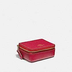 COACH F41289 Triple Pill Box TRUE RED/LIGHT GOLD