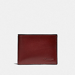 COACH F41327 - SLIM BILLFOLD WALLET RED CURRANT