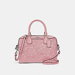 COACH F41343 Mini Bennett Satchel In Signature Leather PETAL/SILVER