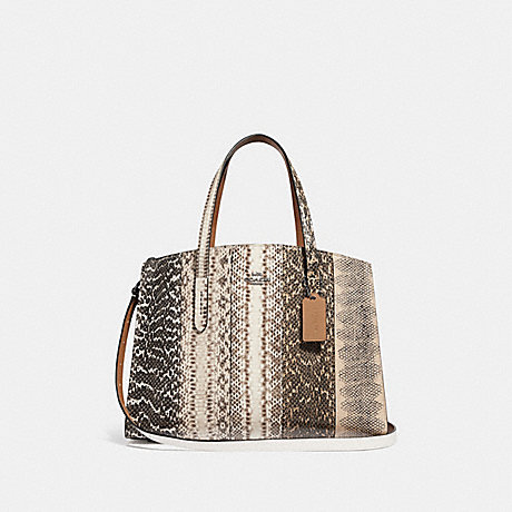 COACH F41381 CHARLIE CARRYALL IN OMBRE SNAKESKIN GM/NATURAL