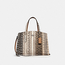 COACH F41381 - CHARLIE CARRYALL IN OMBRE SNAKESKIN GM/NATURAL
