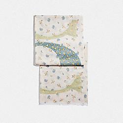 COACH F41410 Signature Floral Print Shawl CHALK