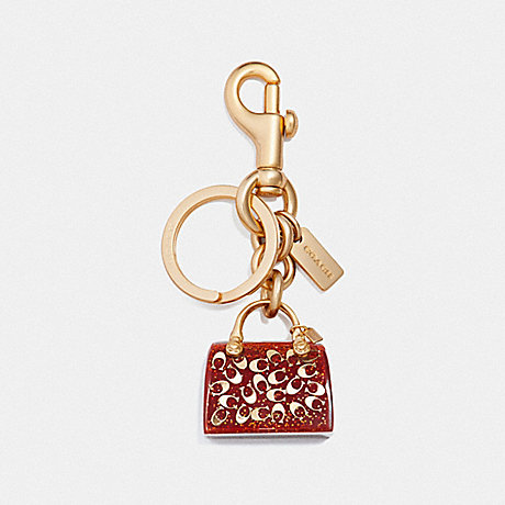 COACH F41412 HANDBAG BAG CHARM TRUE-RED/GOLD