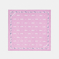 COACH F41815 Horse And Carriage Silk Bandana TULIP