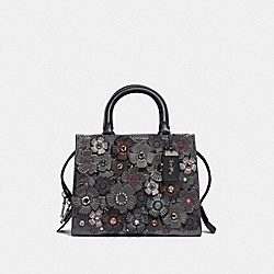 COACH F43017 - ROGUE 25 WITH CRYSTAL TEA ROSE METALLIC GRAPHITE/PEWTER