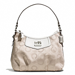 COACH F44379 - MADISON DOTTED OP ART TOP HANDLE POUCH ONE-COLOR
