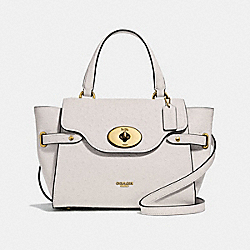 BLAKE FLAP CARRYALL - F44707 - CHALK/LIGHT GOLD