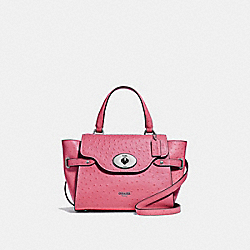 BLAKE FLAP CARRYALL - F44707 - STRAWBERRY/SILVER