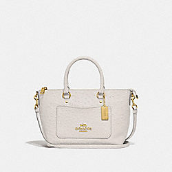 MINI EMMA SATCHEL - F44720 - CHALK/LIGHT GOLD