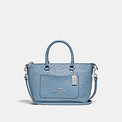 MINI EMMA SATCHEL - F44720 - CORNFLOWER/SILVER