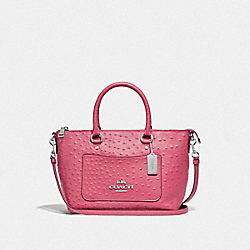 MINI EMMA SATCHEL - F44720 - STRAWBERRY/SILVER