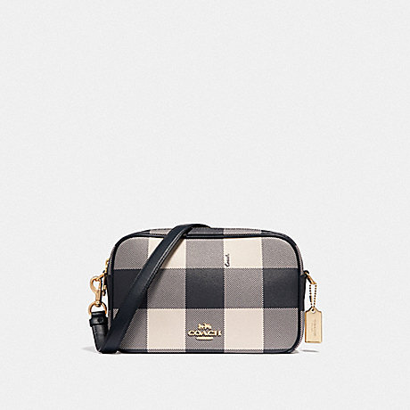9100eb3422 COACH F44954 - JES CROSSBODY WITH BUFFALO PLAID PRINT - MIDNIGHT ...