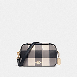 COACH F44954 Jes Crossbody With Buffalo Plaid Print MIDNIGHT/LIGHT GOLD