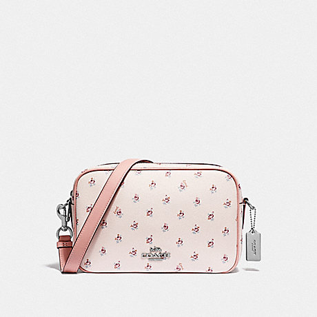 COACH F44957 JES CROSSBODY WITH DITSY FLORAL PRINT LIGHT-PINK-MULTI/SILVER
