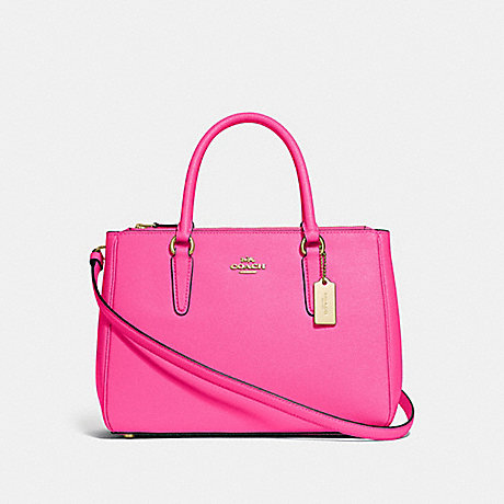 COACH SURREY CARRYALL - PINK RUBY/GOLD - F44958