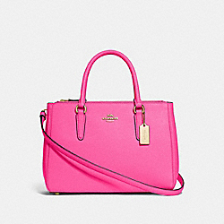 COACH F44958 - SURREY CARRYALL PINK RUBY/GOLD