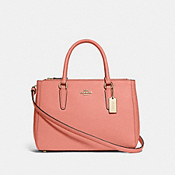COACH F44958 Surrey Carryall LIGHT CORAL/GOLD