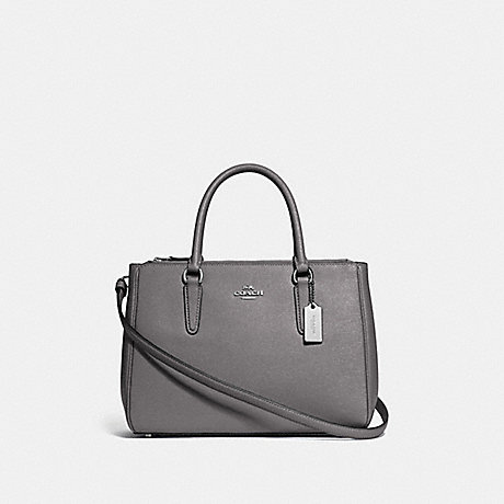 COACH F44958 SURREY CARRYALL HEATHER GREY/SILVER
