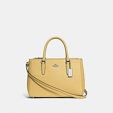 COACH F44958 SURREY CARRYALL LIGHT-YELLOW/SILVER