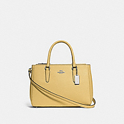 COACH F44958 - SURREY CARRYALL LIGHT YELLOW/SILVER